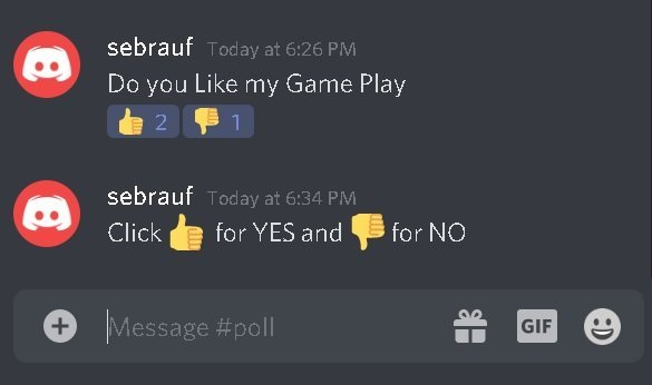 how to make a poll on discord with reaction