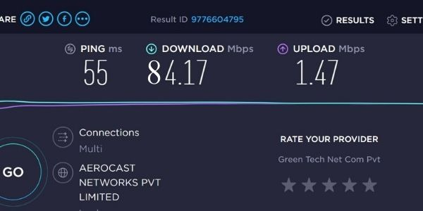 Download and upload speed should be equal