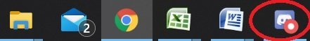 What does the red circle on discord mean