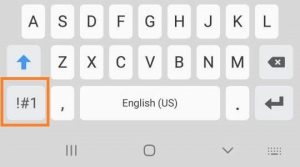 how to use backtick key on android