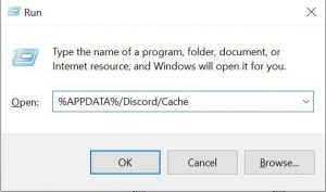 how to open discord cache