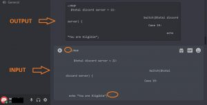 how to write code in discord