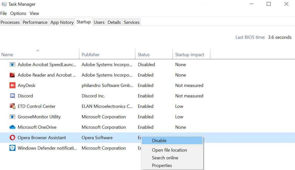 Windows Start-up Programs