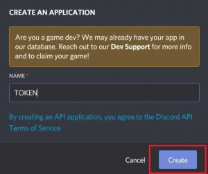Create bot in Discord