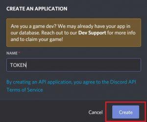 Create bot in Discord