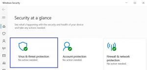 Disable Virus and threat protection in windows