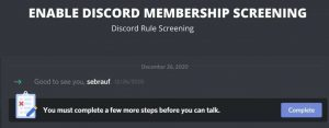 Read more about the article Discord Rule Screening   Membership Screening (New Feature)