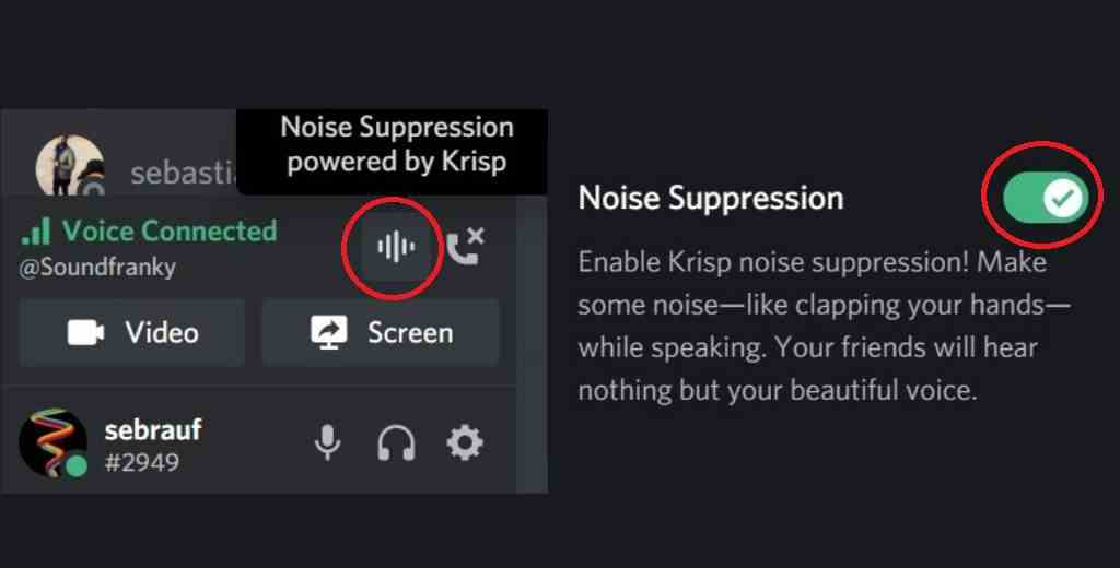 Enable Discord Noise Suppression