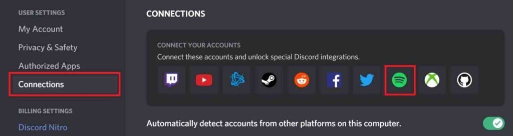 How to link Spotify to Discord PC