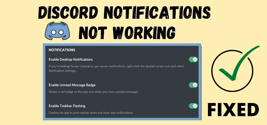Discord Notifications not working on (Android & PC) – FIXED