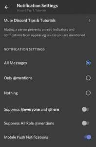 Discord server notifications