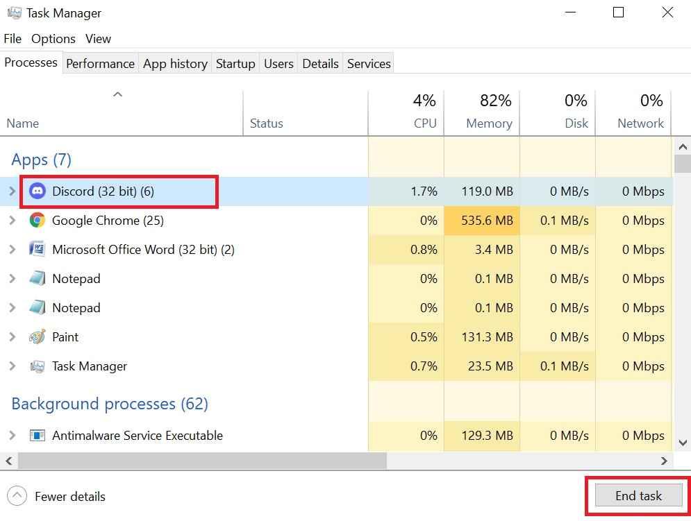 How to restart discord on Windows