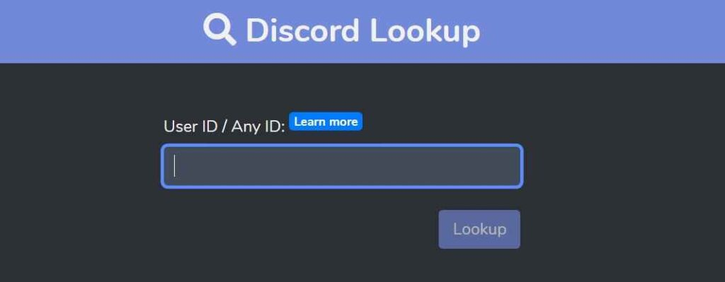 Discord ID look up