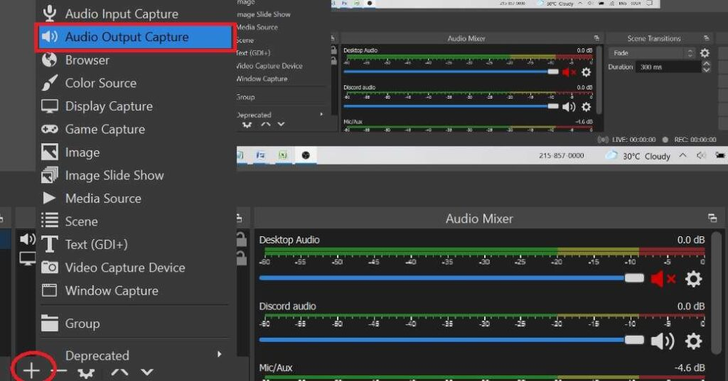 Add Discord Audio source on OBS
